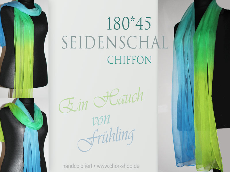 Seidenschal 4color 180*45
