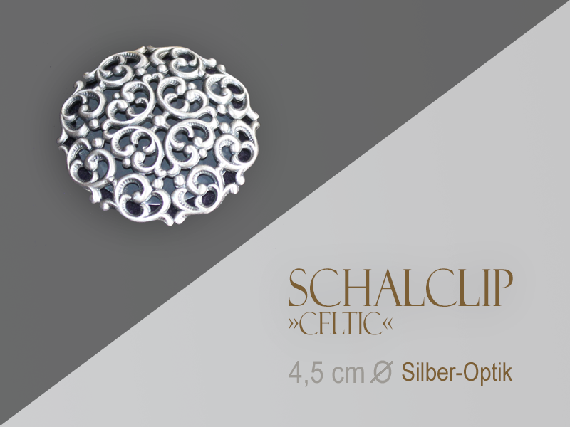 Schalclip »Celtic«, Silber-Optik