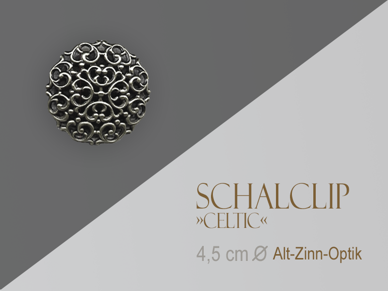 Schalclip »Celtic« Zinn-Optik