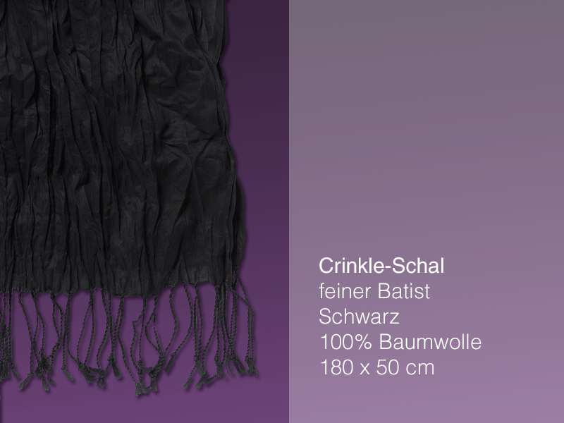 Crinkleschal - black - Batist